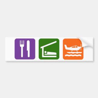 Eet het Vliegtuig van het Zee van de Slaap Bumpersticker