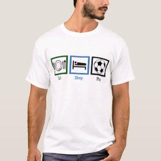 Eet het Voetbal van het Spel van de Slaap T Shirt