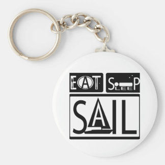 Eet het Zeil Keychain 3 van de Slaap Sleutelhanger