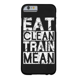 EET SCHOON, BETEKENT de TREIN - Motivatie Training Barely There iPhone 6 Hoesje