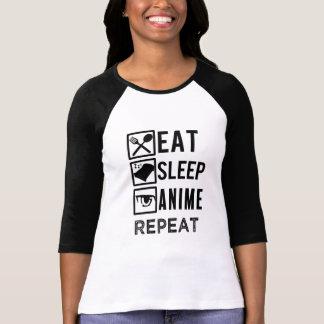 Eet Slaap Anime herhalen het overhemd van grappige T Shirt