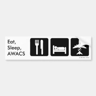 Eet, Slaap, AWACS de Sticker van de Bumper