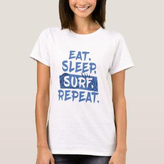 Eet. Slaap. BRANDING. Herhaal. - Heldere T-shirt