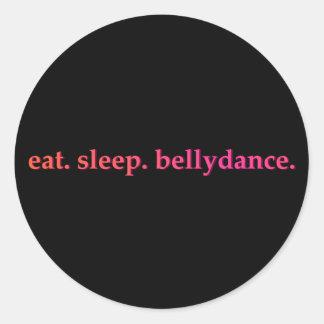 """""""Eet. Slaap. (De Zwarte) Stickers van Bellydance"""""""