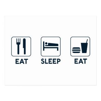 Eet Slaap eten Briefkaart