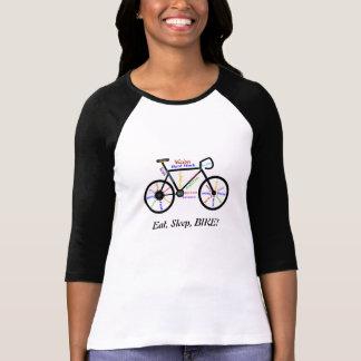 Eet, Slaap, FIETS! De Motivatie Woorden van de T Shirt