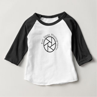 Eet. Slaap. Fotografie. Camera Baby T Shirts