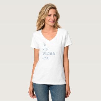 """""""Eet, Slaap, Narrowboat, herhalen"""" de T-shirt van"""