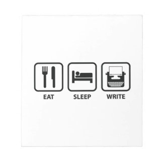 Eet Slaap schrijven Notitieblok