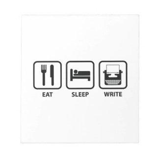 Eet Slaap schrijven Notitieblokken