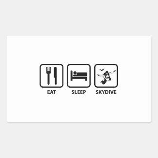 Eet Slaap Skydive Rechthoekige Sticker