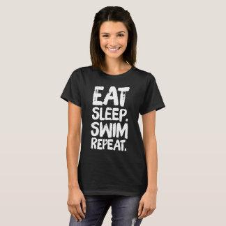 Eet slaap zwemmen herhaling t shirt