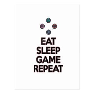 Eet slaapspel herhalen briefkaart