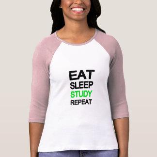 Eet slaapstudie herhalen t shirt