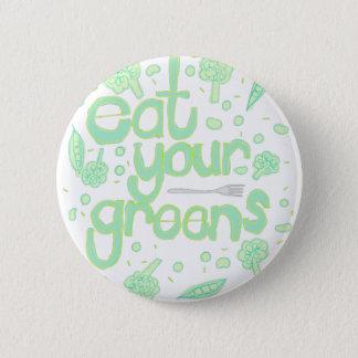 eet uw greens ronde button 5,7 cm