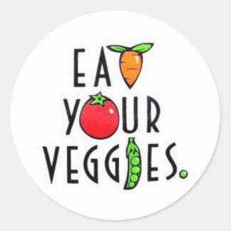 Eet Uw Stickers Veggies