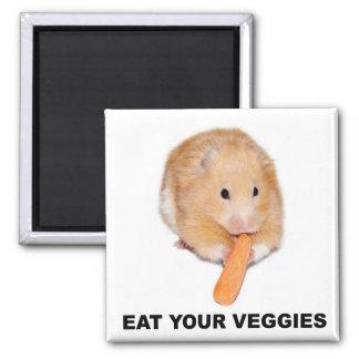 Eet uw veggies magneet