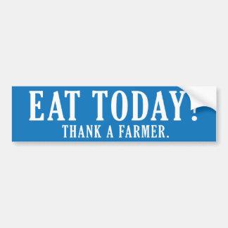 Eet vandaag? Dank een Landbouwer Bumpersticker