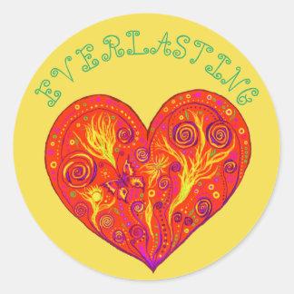 Eeuwige Liefde Ronde Stickers