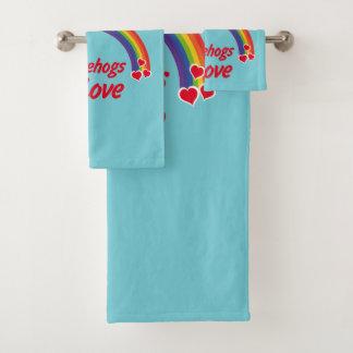 Egel in liefde bad handdoek