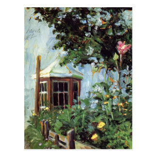 Egon Schiele-House met een Erker in de Tuin Briefkaart