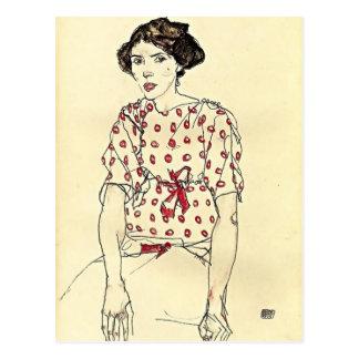 Egon Schiele- Portrait van Misser Waerndorfer Briefkaart