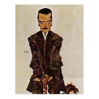 Egon Schiele- Portrait van Uitgever Eduard Kosmack Briefkaart