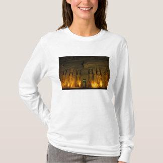 Egypte, Abu Simbel, Aangestoken voorzijde van T Shirt