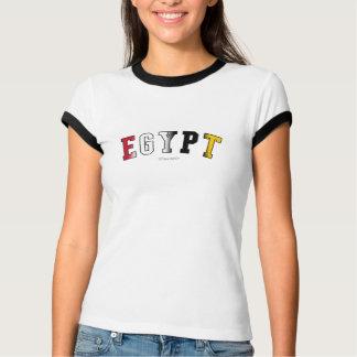 Egypte in nationale vlagkleuren t-shirt