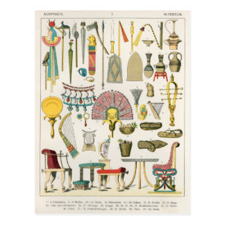 Egyptisch Accessoire, van 'Trachten der Voelker Briefkaart