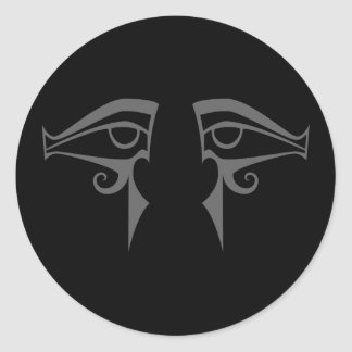 Egyptisch ogenhorus en ISIS Ronde Sticker