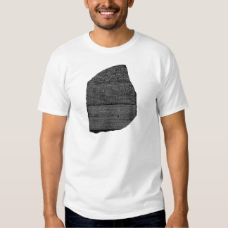 Egyptische Granodiorite Stele van de Steen Rosetta Tshirt