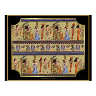 Egyptische Reeks II van Hiërogliefen de Giften van Briefkaart