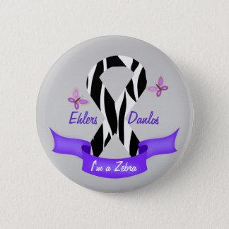 Ehlers-Danlos EDS ben ik een Gestreept Lint van de Ronde Button 5,7 Cm