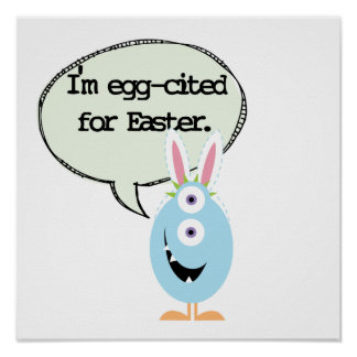 Ei-aangehaald voor Pasen Poster