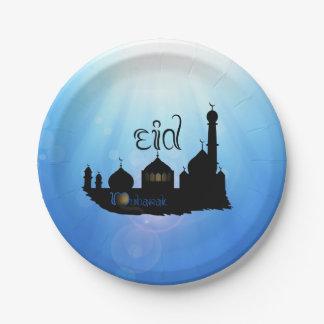 Eid Mubarak Mosque met Zonnestralen - het Bord van