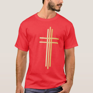 Eigentijds Gouden Christelijk Kruis - het Overhemd T Shirt
