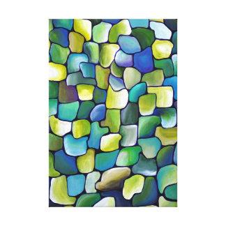 Eigentijds Groen Patroon Canvas Afdrukken