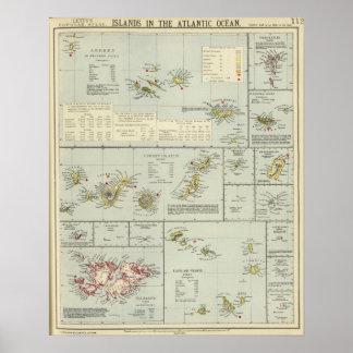 Eilanden, de Atlantische Oceaan Poster