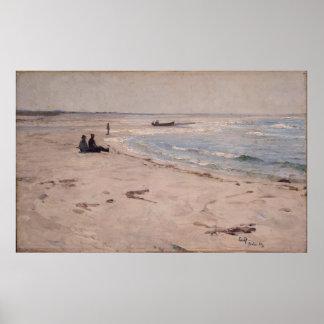 Eilif Peterssen - van het Strand in Sele Poster
