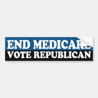 Eind Gezondheidszorg voor bejaarden: De Republikei Bumpersticker
