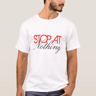 Einde bij niets t shirt