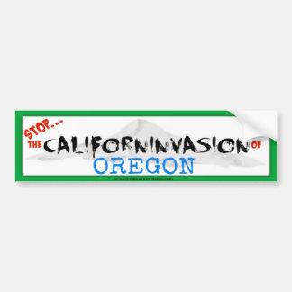 Einde! Californinvasion van Oregon Bumpersticker