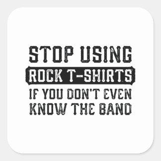 Einde die de T-shirts van de Rots gebruiken Vierkante Sticker
