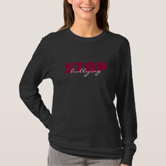 Einde die het Roze Eenvoudige Zwarte Lange T Shirt