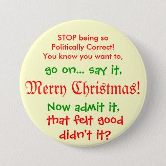 Einde die PC voor Kerstmis zijn!! Ronde Button 7,6 Cm