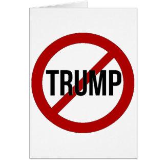Einde Donald Trump Anti-Trump Wenskaart