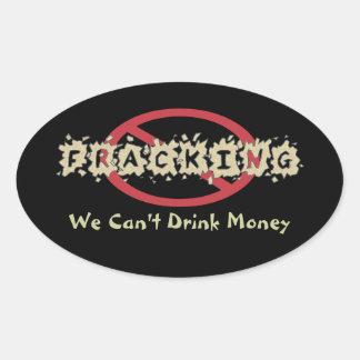 Einde Fracking Ovale Sticker