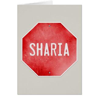 Einde Sharia Wenskaart