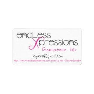 Eindeloos de druk-aan-de-Rand van Xpressions Avery Etiket